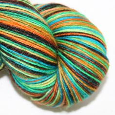 4ply British wool and nylon in  Scooby Doo