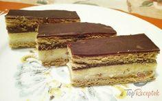 Szimpatikus réteges-krémes sütemény   TopReceptek.hu Hungarian Desserts, Tiramisu, Muffin, Food And Drink, Cookies, Chocolate, Rum, Ethnic Recipes, Sweet