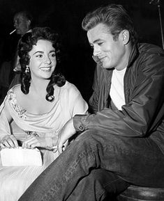 Elizabeth Taylor and James Dean