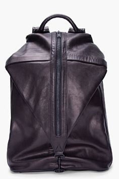 7fbe9926787 PHILLIP LIM Black Drop Down Backpack Black Leather Backpack, Leather Bags,  Tote