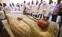 Egypt revealed Saturday a rare trove of 30 ancient wooden coffins that have been well-preserved over millennia in the archaeologically rich Valley of the. Archaeological Discoveries, Archaeological Site, Arab Spring, Latest Discoveries, Archaeology News, Valley Of The Kings, High Priest, Egypt Travel, Yellow Painting