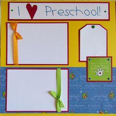 PRESCHOOL 12x12 premade scrapbook layout