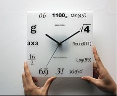Mathematics clock. Test your date's brains by seeing if they can figure out the time…