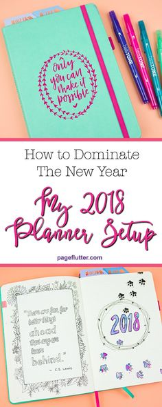 2018 journal flip-through. Is Your Planner or Bullet Journal set up for the New Year? Here's my 2018 journal flip-through.
