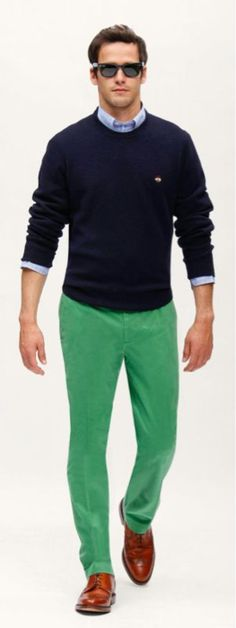 mmmmm....navy and green.....on a hot guy