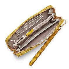Sydney Zip Phone Wallet in black, silver metallic or maroon