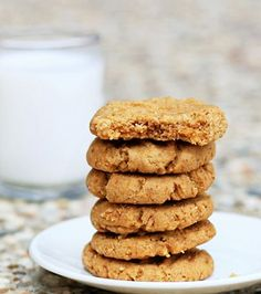 Healthy Peanut Butter Cookies: one of my friends said this was THE best cookie she had ever put in her mouth!