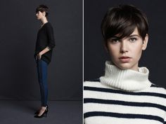 The sweater (left), the pants, the hair. For when I go short again before it's the age-appropriate thing to do.