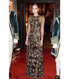 WHO: Keira Knightley  WHAT: Arriving at the Valentino Ball.  WEAR: Valentino Haute Couture gown from the F/W 13 collection.