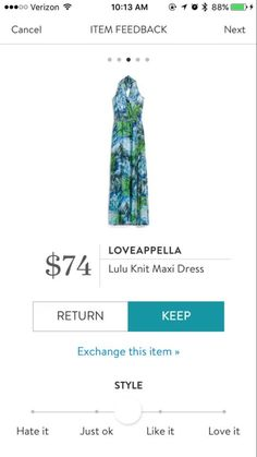 Hi Erika, ❤️❤️❤️ I would love to try this dress! Love these colors and pattern! Loveappella LuLu Knit Maxi Dress