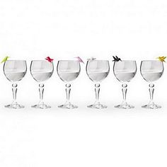 Wine Charms Hummingbird Glass Marker by Qualy Design Studio. Set of 6 Unusual Wine Glass Identifiers. Multicolor. Unique Bird Wine Glass Markers. >>> Click image for more details.(It is Amazon affiliate link) #WineTime