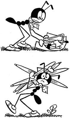 Ferda Mravenec (souborné vydání seriálu z Lidových novin 1933/1934, s novým textovým doprovodem od Josefa Bruknera) Amazing Adventures, Ants, Teaching Kids, Bee, Butterfly, Author, Illustration, Character, Ant