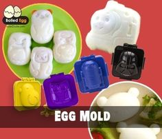 Bento Rice Shapers & Egg Molds Rice shapers or rice mold are used to shape rice into fun shapes for your bento lunch box or food art on plate. Rice molds are best used with short-grain rice, or Japanese rice that have sticky texture so it stays in form better; however, rice molds can be used with other types of your favorite rice as well but it