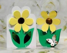Paper flower cards templates