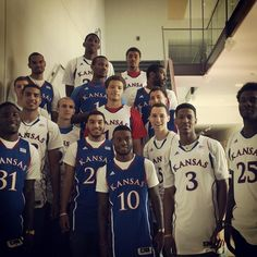 2013-2014 Jayhawks, watch out for this group.  I'm expecting a lot.  Starting with the tenth straight Big 12 championship and a DEEP tourney run.