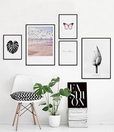 If you're working with a collection of artwork across themes, using frames of a similar design or style is one way to tie the collection to your home's style. 🏚️ ------------- #gallery #wall #art #artwork #picture #frames #ideas #tips #decorations #diy #pictureframesdesignideashomedecor