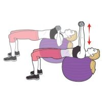 Dumbbell Chest Press on Stability Ball
