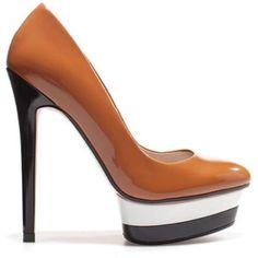 Zara Patent Leather Platform Pumps Not worn much. Good Condition. 1 inch platform, 5.5inch heels. No trades. Zara Shoes Platforms