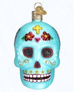 Old World Christmas Day of the Dead Sugar Skull Ornament