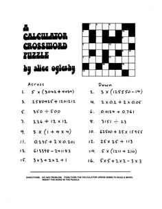 Here's a packet of calculator activities for the