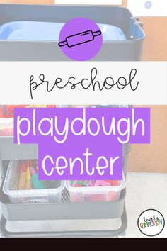 The Playdough Center in a preschool classroom is a place for children to build fine motor muscles, release stress and be creative. See what is inside my Playdough Center. Preschool Centers, Preschool Classroom, Preschool Activities, Play Based Learning, Learning Centers, Classroom Organization, Organization Ideas, Center Labels, Lakeshore Learning
