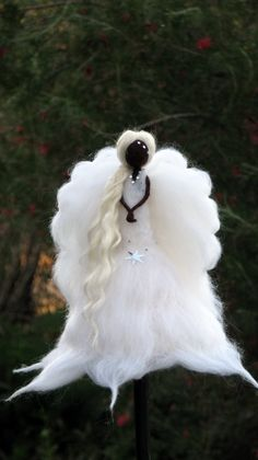 Angel Christmas topper Waldorf inspired Needle by Made4uByMagic
