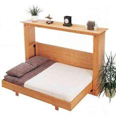 Decorate your room in a new style with murphy bed plans Cama Tatami, Cama Murphy, Diy Lit, Murphy-bett Ikea, Ikea Hack, Horizontal Murphy Bed, Hideaway Bed, Space Saving Beds, Modern Murphy Beds