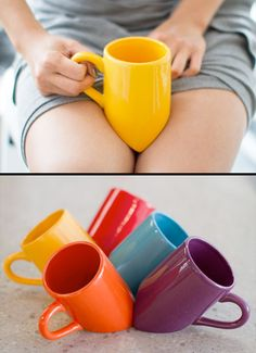 Lap Mug - 20 Creative And Unique Coffee Mugs. So awesome! WHY ARE WE NOT FUNDING THIS?