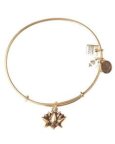 Alex and Ani Lotus Blossom Expandable Wire Bangle, Charity by Design Collection | Bloomingdale's - in gold