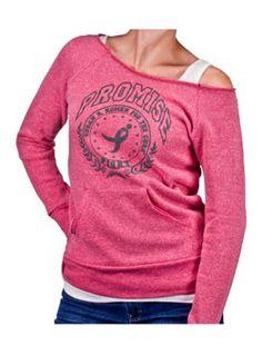 Promise Sweatshirt at ShopKomen.com (how cute is this shirt?! I want it!)