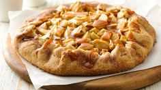 Artisan-style apple pie comes quick with a flavor bonus--caramel topping! Making this for Thanksgiving!