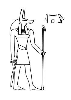 Dibujo para colorear Anubis
