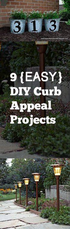 Fun and easy DIY Projects to update your home and yard and improve your curb appeal... Fun Ideas, projects and tutorials #homeimprovementguide,