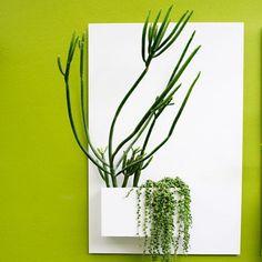 Potted Designs   City Planter - White