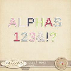Little Princess Alpha :: Alpha's & Fonts :: Memory Scraps
