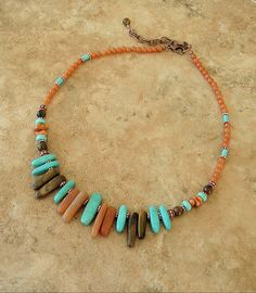 Boho Necklace Southwest Jewelry Bohemian Turquoise by BohoStyleMe, $89.00