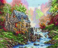 Cobblestone mill - cross stitch