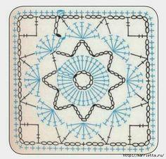 Transcendent Crochet a Solid Granny Square Ideas. Inconceivable Crochet a Solid Granny Square Ideas. Crochet Motif Patterns, Granny Square Crochet Pattern, Crochet Blocks, Crochet Diagram, Square Patterns, Crochet Chart, Crochet Squares, Crochet Granny, Crochet Designs