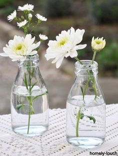 Idea for simple table decor :-)