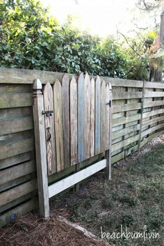 Reclaimed Wood Headboard--Fence Gate