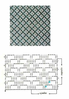 Crochet Stitches Chart, Crochet Motif Patterns, Crochet Diagram, Crochet Squares, Knitting Patterns, Crochet Patron, Crochet Lace, Crochet Table Runner Pattern, Fillet Crochet
