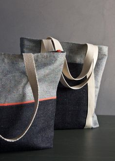 Favorite Totes in Denim with Colored Motes