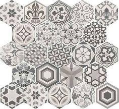 grey patterned tiles uk floor
