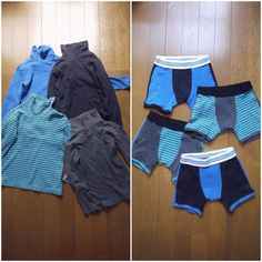boys undies from recycled t shirts, I think these are just adorable!