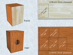 How to Build a Cajon. A cajon is a six-sided Peruvian drum that's a popular DIY instrument project. Diy Wood Projects, Woodworking Projects, Wood Crafts, Diy And Crafts, Projects To Try, Making Musical Instruments, Homemade Instruments, Cajon Musical, Cajon Drum