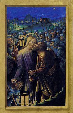 Jean Bourdichon - Judas's kiss / Le baiser de Judas ( ca. 1505)