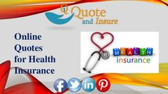 Searching for best health insurance quotes? We help you to find low cost health insurance quote at affordable premium rate. Compare Your Quotes Online Today! http://www.slideshare.net/quoteandinsure/online-quotes-for-health-insurance