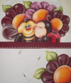 Avental de abelha e joaninha via @AcrilexBrasil