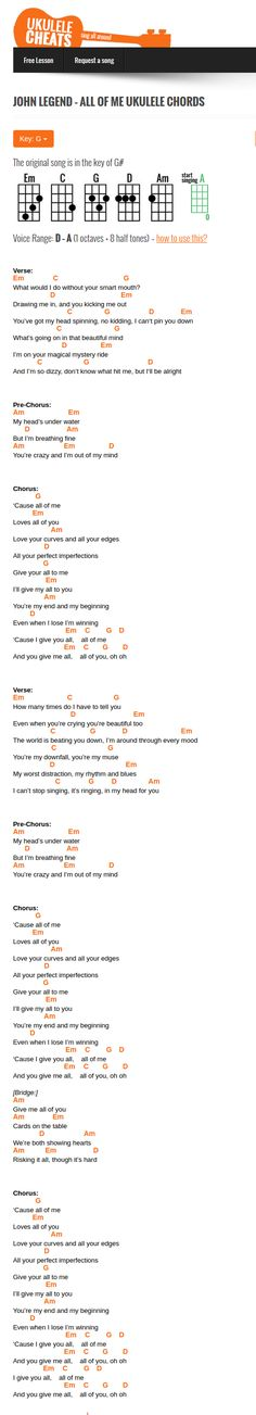 Guitar guitar tabs all of me : Pinterest • The world's catalog of ideas