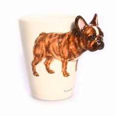 French Bulldog Mug by BlueWitchCeramics on Etsy; PERFECT! #frenchbulldog #french #bulldog #frenchie #mug #etsy #love